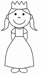Princess Black And White Clip Art (51+)