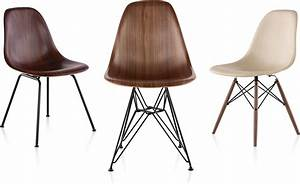 Eamesr molded wood side chair with wire base hivemoderncom for Eames wooden chair