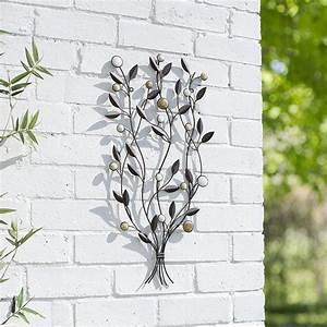 Garden metal wall art decor leaf bunch cmh patio indoor