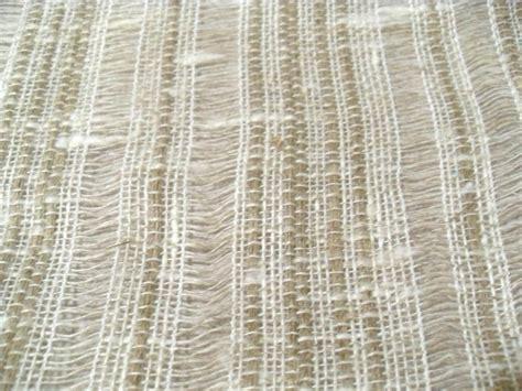 100 linen taupe open weave woven stripe drapery