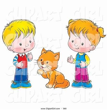 Between Boy Clip Cat Clipart Grooming Bannykh