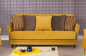 Mustard sofa yellow linen sofa on tufted thesofa for Mustard yellow sofa bed
