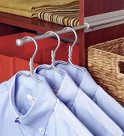 Valet Closet Rod by Sliding Closet Valet Rod Brushed Silver In Closet Valets