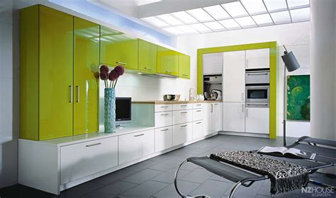 Excellent Modern Lime Green Kitchen With Glossy Cabinets