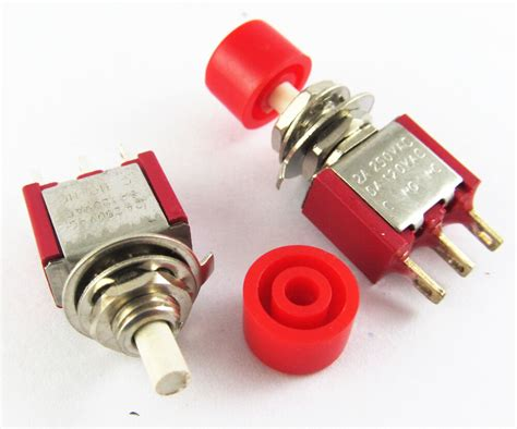 Red Momentary Spdt Push Button Normal Open Close Switch