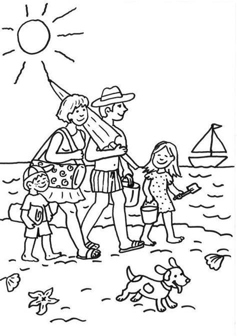 Kostenlose Malvorlage Sommer Familie Am Strand Ausmalen