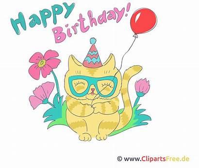 Birthday Happy Gifs Clipart Cliparts Animationen Geburtstag