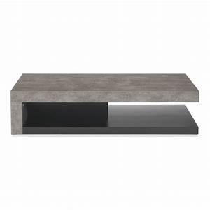 Table Basse Effet Beton : table basse effet b ton gris et noir hilo les tables basses tables basses et bouts de ~ Teatrodelosmanantiales.com Idées de Décoration