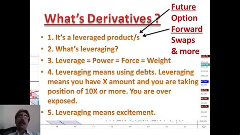 Futures contracts allow players to secure a specific price and protect against the possibility of wild if you plan to begin trading futures, be careful because you don't want to have to take physical delivery. Derivatives - Future and Options - Lesson for beginners ...