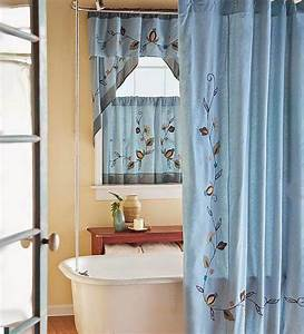 Bathroom window shower curtain window treatments design for Bathroom shower curtains and window curtains