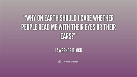 Why Should We Care Quotes