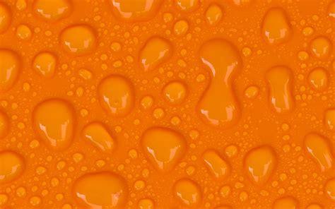 papel de parede gotas de agua  fundo laranja wallpaper