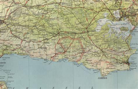 map  south coast  england