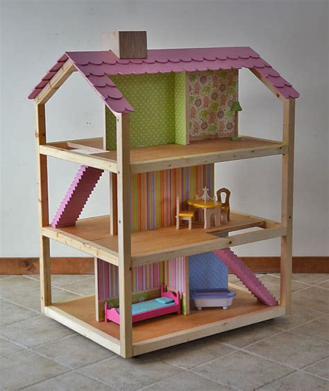 simple wood doll house plans plans diy   log