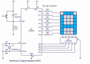 Wiring  U0026 Diagram Info  Interfacing Dot Matrix Led Display To 8051