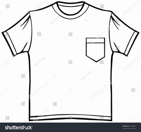 Tshirt Template For Logo Pocket by Pocket T Shirt Line Art Shirt Stock Vector 31589647
