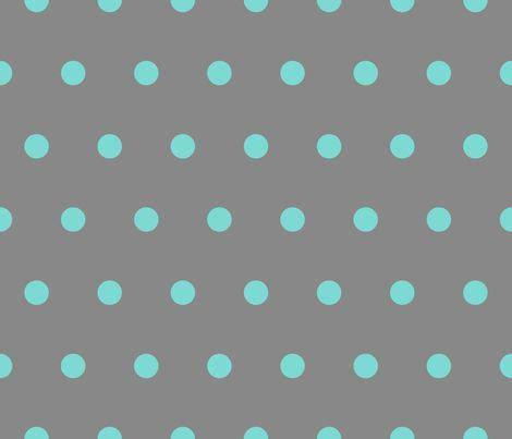 gray pin dot my anywhere polka dot turquoise on grey fabric by juliesfabrics on
