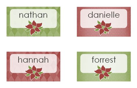free printable christmas table place cards template christmas dinner place cards