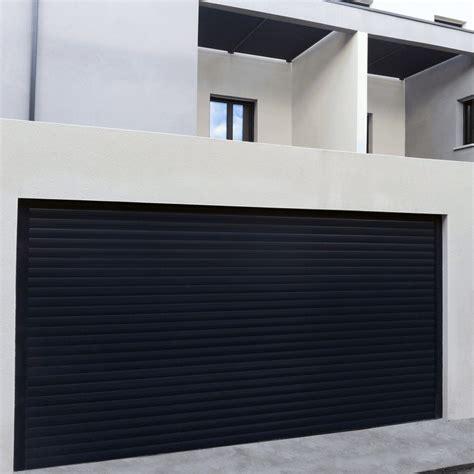 porte de garage en aluminium sur mesure motoris 233 e enroulable