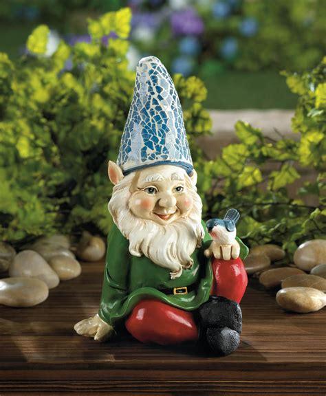 cheery gnome solar garden statue wholesale at koehler home