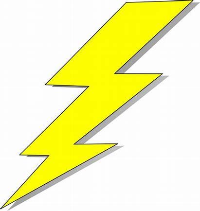 Lightning Bolt Clip Transparent Clipart Yellow Electric
