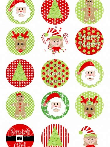 christmas traditions red  green   circles collage
