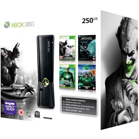 xbox  gb bundle includes batman arkham city green