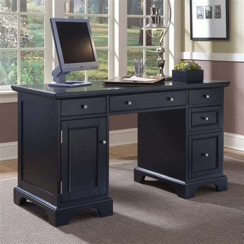 black home office desk modern black computer desk for your home office