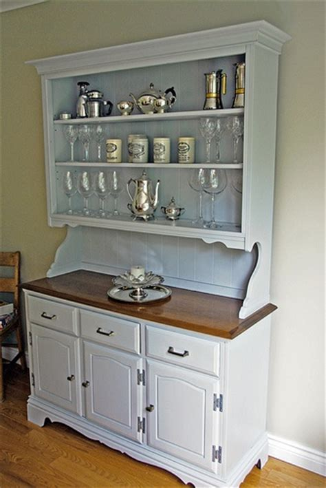 painted hutch..beadboard backing, open shelves