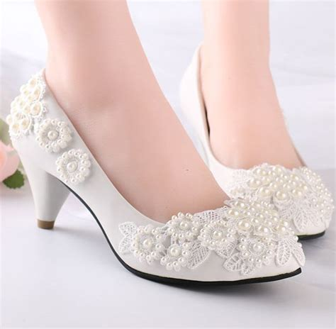 wedding shoes for flower pearls flower lace wedding shoes for women milk white 1113