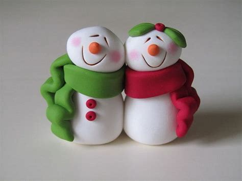 polymer clay snowman for christmas holiday holidays