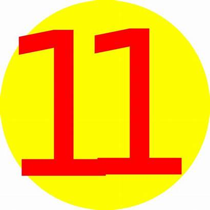 Number Clip Clipart Numbers Eleven Yellow Clker