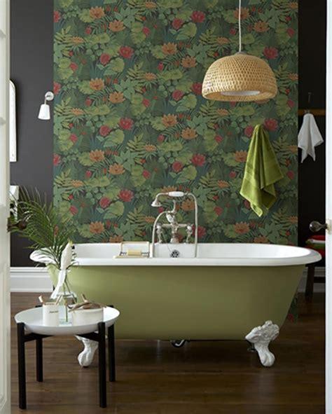 papier peint cuisine original papiers peints créatifs pour une salle de bain design
