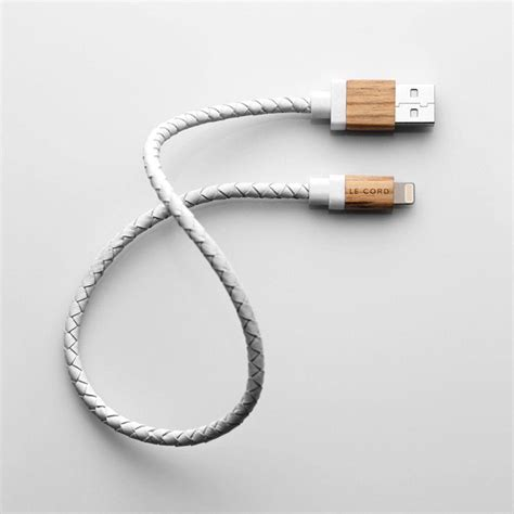 iphone cord le cord leather and wood charge cable for iphone and