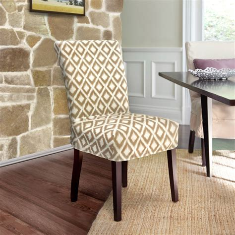 Overstockcom Dining Room Chair Covers by Ikat Relaxed Fit Dining Chair Slipcover With Buttons