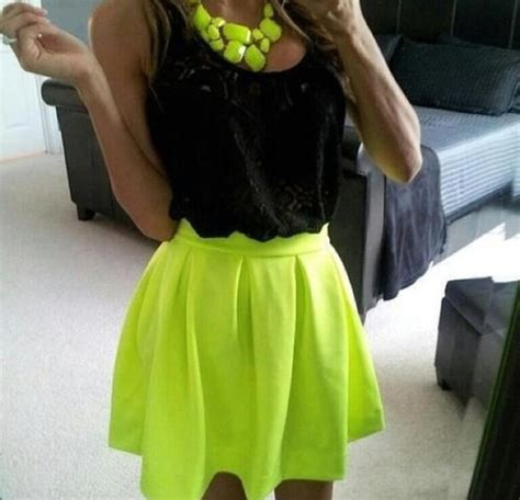 Skirt neon cute cute outfits - Wheretoget