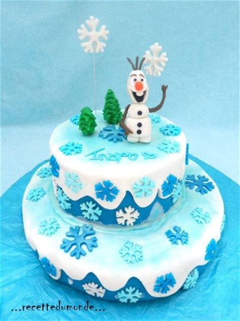 olaf en pate a sucre olaf cake g 226 teau 3d la reine des neiges frozen cake recette du monde