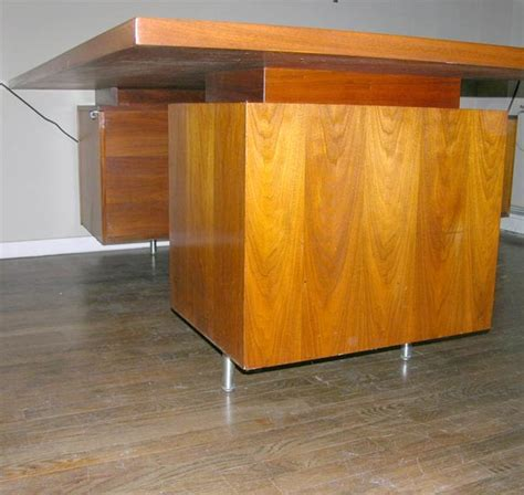 george nelson l shaped walnut executive desk herman miller at 1stdibs