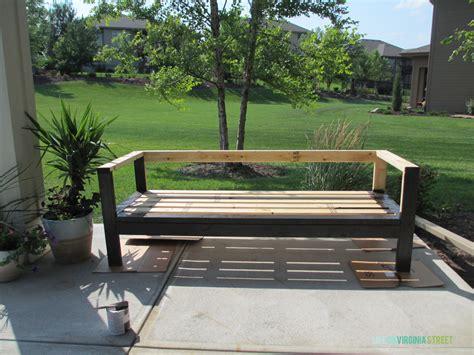 build  diy outdoor couch life  virginia street