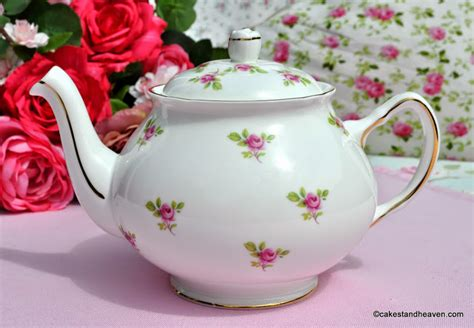 duchess ditsy pink roses china teapot cs
