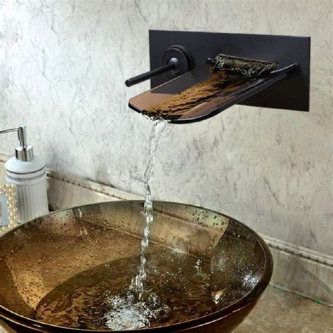 waterfall kitchen sink waterfall faucets pagosa widespread waterfall faucet 3363
