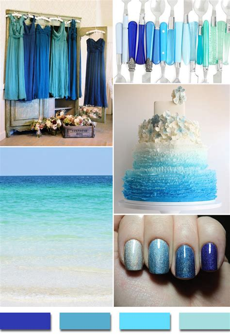 popular summerbeach wedding color palettes  trends