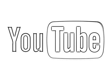 youtube logo sketch sketch coloring page