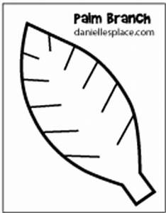 palm sunday crafts and activities With palm branch template