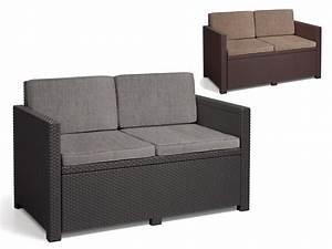 Lounge Auflagen Wetterfest : lounge sofa monaco premium 2 sitzer mit auflagen in rattanoptik wetterfest ~ A.2002-acura-tl-radio.info Haus und Dekorationen