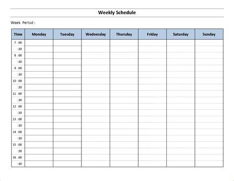 Weekly Schedule Template 10 Free Weekly Schedule Template Memo Formats