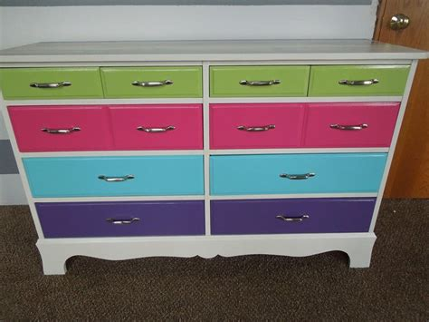 fun painted kids dresser  home projects pinterest