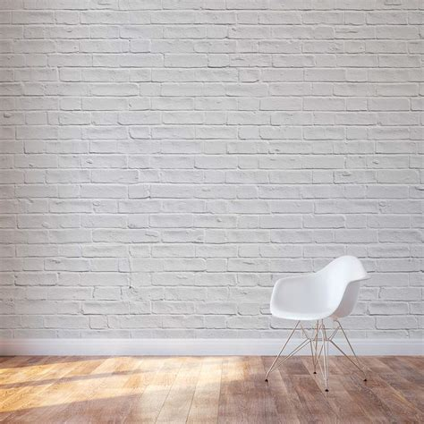 kitchen wall decals white brick wall mural