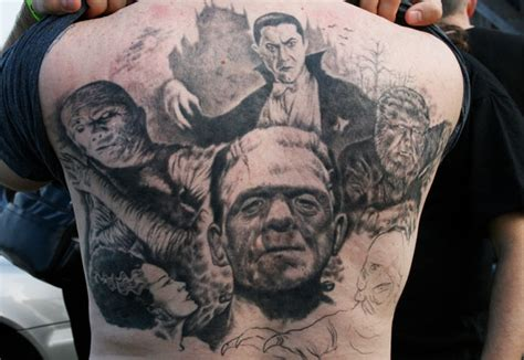 awesomely creepy horror tattoo designs