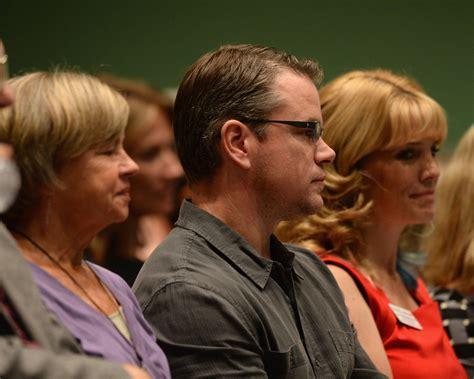 Matt Damon And Nancy Carlsson-paige Photos Photos